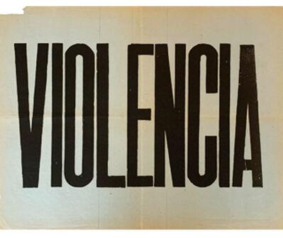 Juan Carlos Romero, 'Violencia', 1973