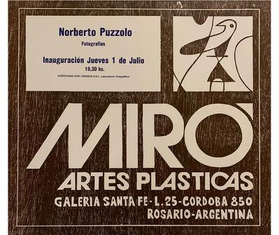 Norberto Puzzolo, 'Norberto Puzzolo. Fotografías', 1982