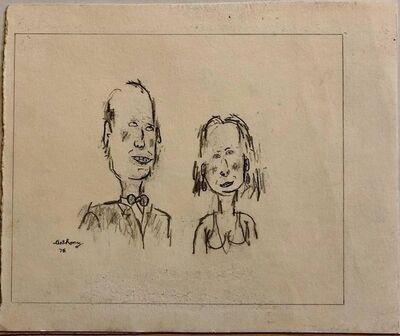 William Anthony, 'William Anthony 1976 Caricature Drawing John Richardson & Jan Cushing', 1980-1989