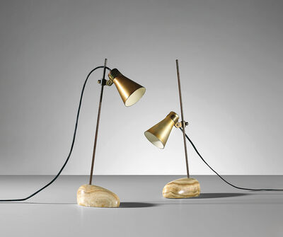 Luigi Caccia Dominioni, 'Two 'Sasso' adjustable table lamps, model no. Lta 1', circa 1948