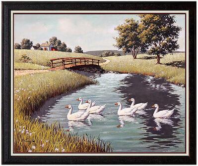 Arthur Sarnoff, 'Arthur Sarnoff Oil on Canvas Original Painting Signed Animal Illustration Art', 20th Century