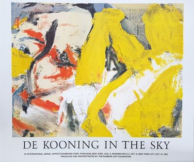 Willem de Kooning, 'De Kooning In The Sky', 1982