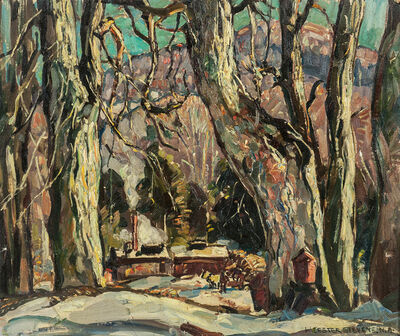 William Lester Stevens, 'Winter in the Woods'