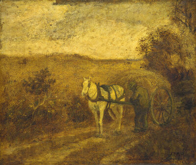 Albert Pinkham Ryder, 'Mending the Harness', mid to late 1870s