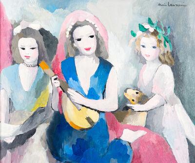 Marie Laurencin, 'LE TRIO EN CONCERT OU JEUNES FILLES AU LUTH', ca. 1930