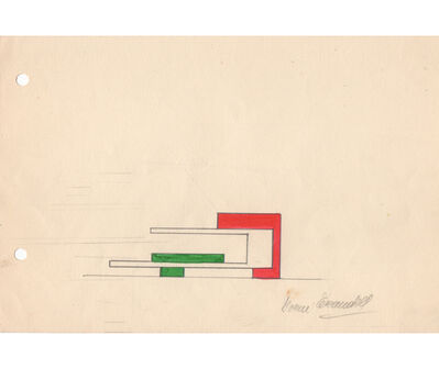 Noemi Escandell, 'Boceto para estructura Espacios Correspondientes (estructura variable de tres elementos)', 1967