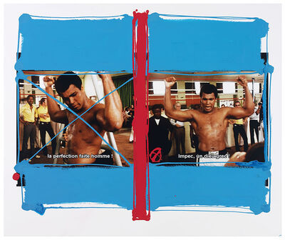 William Klein, 'Ali, Kinshasa, Zaïre, 1974 (painted in 2010)', 1974