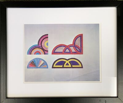 Frank Stella, 'A plate showing studies for 4 paintings (SABRA, others untitled), from the Portfolio by the Washington Museum of Modern Art', 1966