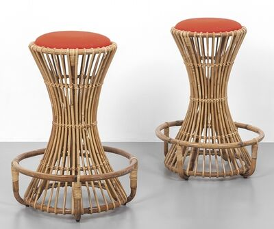 Tito Agnoli, 'Two stools 'BP 10' for PIERANTONIO BONACINA 60s.'