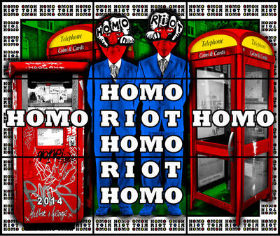 Gilbert and George, 'HOMO RIOT HOMO', 2014