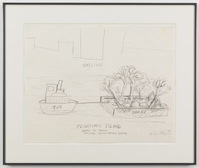 The Estate of Robert Smithson, 'Floating Island - Barge to Travel Around Manhatten Island', 1971