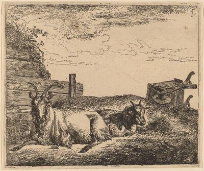 Adriaen van de Velde, 'Recumbent Goats', ca. 1657/1659