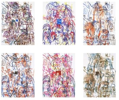 David Salle, 'Theme for an Aztec Moralist Portfolio', 1983