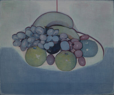 Tang Yongxiang, 'Some fruits on white and blue', 2014