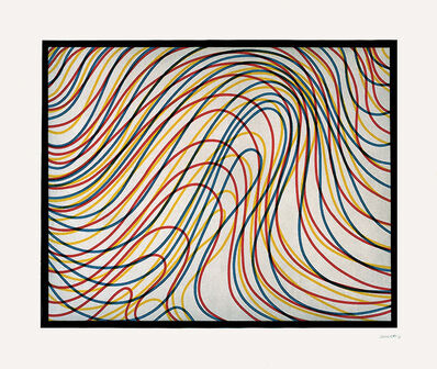 Sol LeWitt, 'Wavy Lines with Black Border', 1997