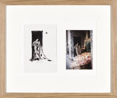 Ernest Pignon-Ernest, 'Donna con lenzuelo', 1990
