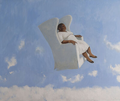 Julio Larraz, ' Above the Clouds 2015 Oil on Canvas ', 2015