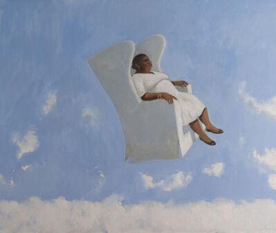 Julio Larraz, ' Above the Clouds 2015 Oil on Canvas ', 2015