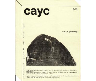 Carlos Ginzburg, 'Carlos Ginzburg', 1973