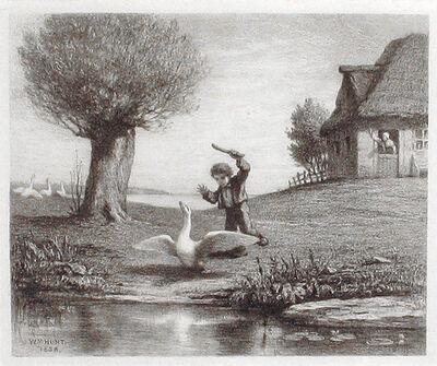 William Morris Hunt, 'The Goose Boy', 1858