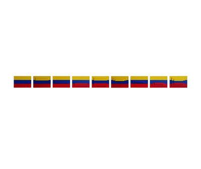 Juan José Olavarría, '3 banderas (9 piezas) ', 2016