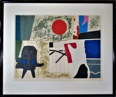 "Max Papart, '""Abstract Composition"" large color carborundum etching', ca. 1960"