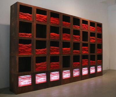 Fabrizio Plessi, 'Armadio Rosso', 1990