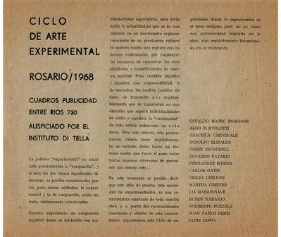 Noemi Escandell, 'Ciclo de arte experimental. Rosario', 1968