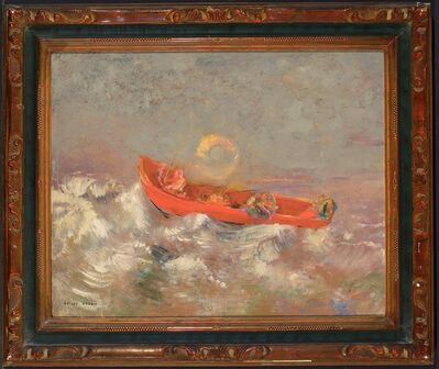 Odilon Redon, 'The Red Barque', about 1895