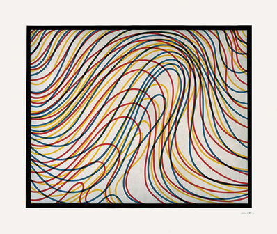 Sol LeWitt, 'Wavy Lines with Black Border', 1997