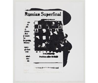 "Analía Saban, 'Recorte de periódico: ""Russian Superfinal"", The New York Times, January 6 2008', 2011"