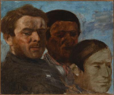 Edgar Degas, 'Trois têtes', ca. 1871