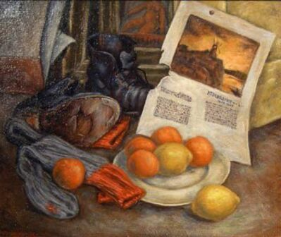 Frederick Hagan, 'On the Floor, Still Life', 1945
