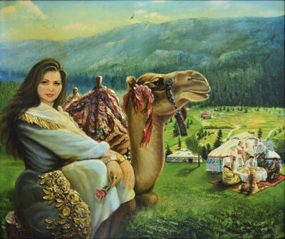 Abdul Razzak Zaarur, 'Girl with a Camel', 2014