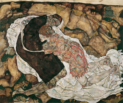 Egon Schiele, 'Death and Girl', 1915