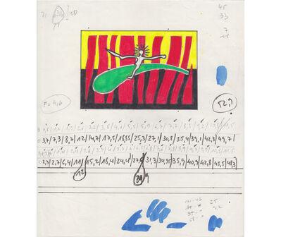 Juan Pablo Renzi, 'Boceto para Jinete azul', ca. 1984