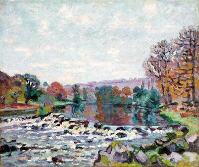 Jean Baptiste Armand Guillaumin, 'Le Barrage de Genetin (The Genetin Dam)', ca. 1905