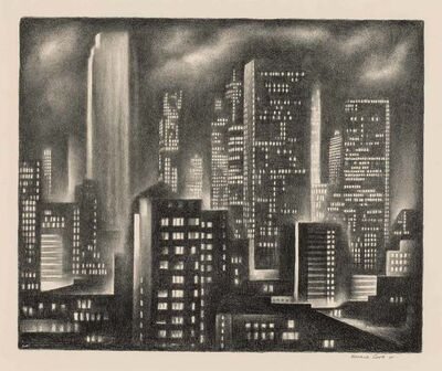 Howard Cook, 'New York Night (D. 162)', 1931