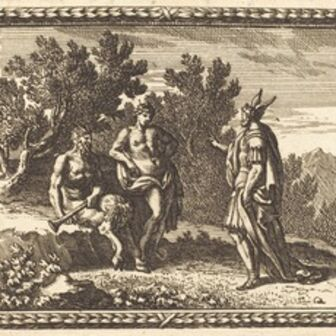 Jean Lepautre, 'Midas with Apollo and Pan', published 1676
