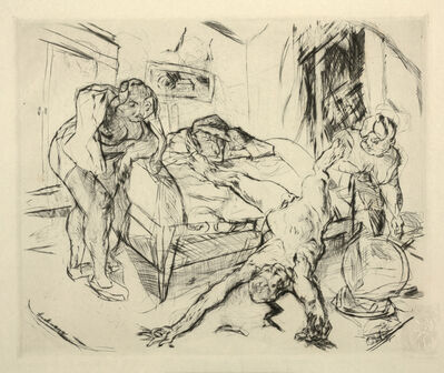 Max Beckmann, 'Murder (Mord), plate 31 from Visions of Shakespeare (Shakespeare Visionen)', 1918