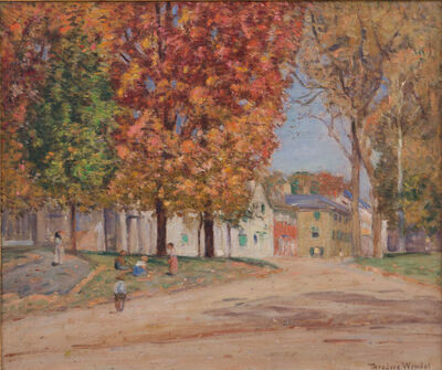 Theodore Wendel, 'Autumn on Main Street, Ipswich', ca. 1900