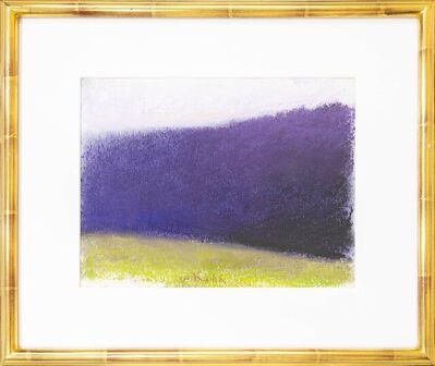 Wolf Kahn, 'Dark Purple Tree Wall', 1995