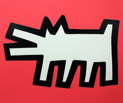 Keith Haring, 'Red Dog (Icons)',  1990