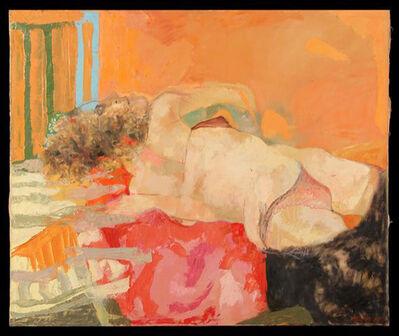 Ugo Attardi, ''Nudo femminile sdraiato'', 1966