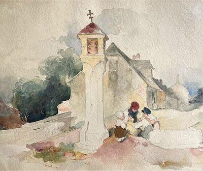 Peter Fendi, 'Kids playing on a wayside', 1839