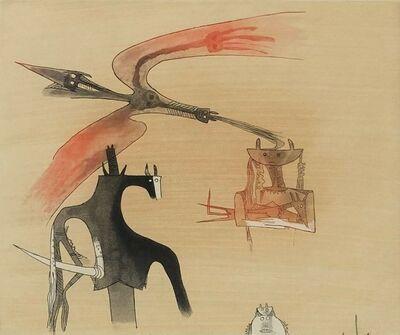 Wifredo Lam, 'Sans titre - XXe siecle plate #7', 1977