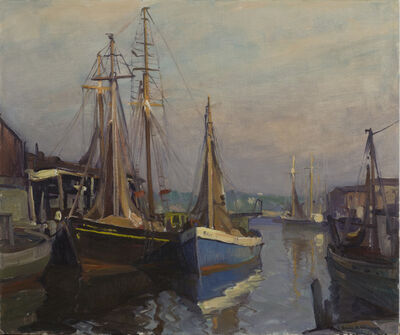 Emile Albert Gruppe, 'Drying the Nets', 20th Century