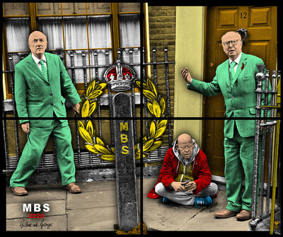 Gilbert and George, 'MBS', 2020