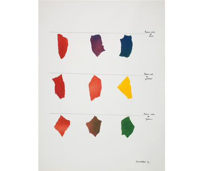 Osvaldo Romberg, 'From red to blue, from red to yellow, from red to green', 1976