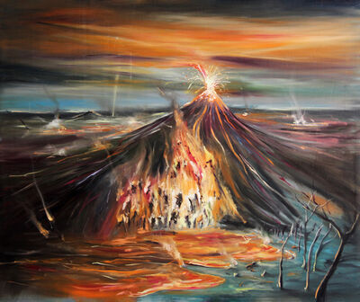 Marcos Castro, 'Paisaje de fuego [Fire landscape]', 2019